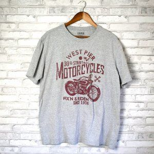 Izod Motorcycle Great Graphic T Shirt Mens XL
